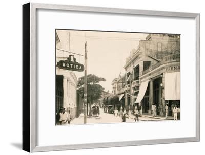 Garcia Street, Guantanamo, Cuba, c1900-Unknown-Framed Giclee Print