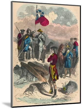 Planting of the Royal Flag on the Ruins of Fort Du Quesne, 1758-Unknown-Mounted Giclee Print