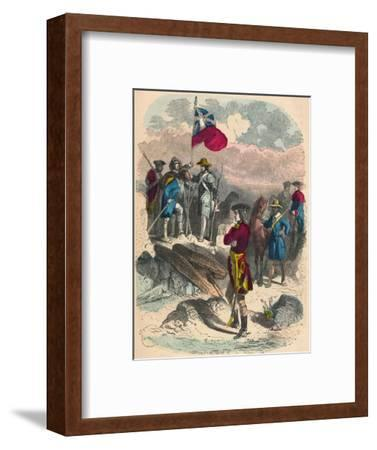 Planting of the Royal Flag on the Ruins of Fort Du Quesne, 1758-Unknown-Framed Giclee Print
