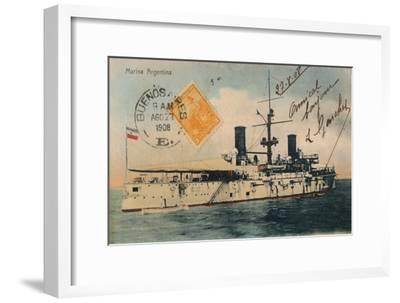 Marina Argentina. Acorazado, Belgrano, c1908-Unknown-Framed Giclee Print