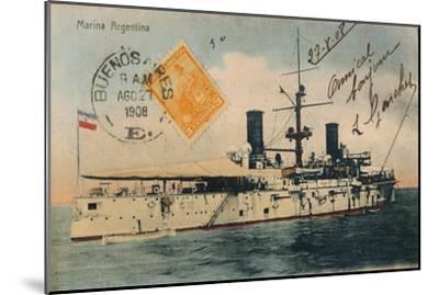 Marina Argentina. Acorazado, Belgrano, c1908-Unknown-Mounted Giclee Print