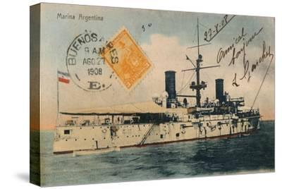 Marina Argentina. Acorazado, Belgrano, c1908-Unknown-Stretched Canvas Print