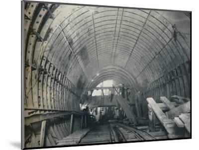 Modern Emulation of Piranesi: No. 3 escalator tunnel at Piccadilly Circus Station, 1929-Unknown-Mounted Photographic Print