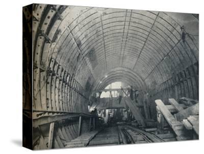 Modern Emulation of Piranesi: No. 3 escalator tunnel at Piccadilly Circus Station, 1929-Unknown-Stretched Canvas Print