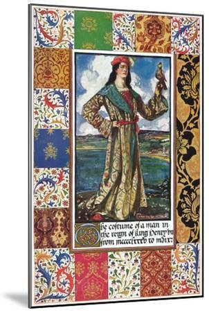 The Costume of a Man in the Reign of King Henry VII, 15th century, (1904)-Unknown-Mounted Giclee Print