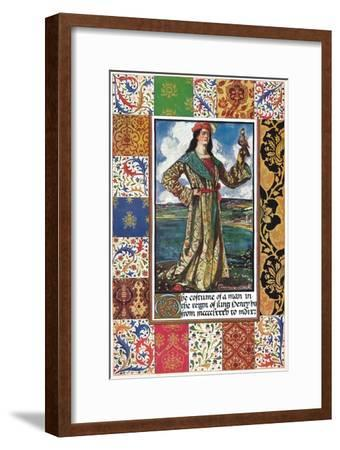 The Costume of a Man in the Reign of King Henry VII, 15th century, (1904)-Unknown-Framed Giclee Print