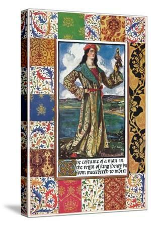The Costume of a Man in the Reign of King Henry VII, 15th century, (1904)-Unknown-Stretched Canvas Print