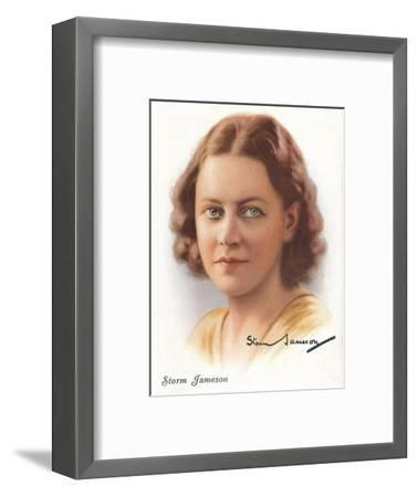 Storm Jameson, 1937-Unknown-Framed Giclee Print