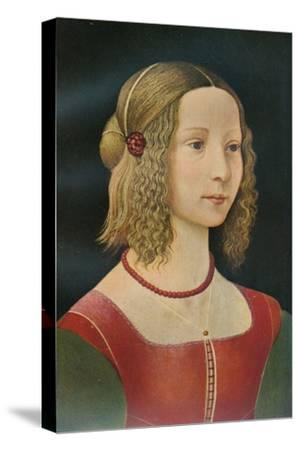 Portrait of a Girl, c1490, (1911)-Unknown-Stretched Canvas Print