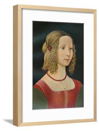 Portrait of a Girl, c1490, (1911)-Unknown-Framed Giclee Print