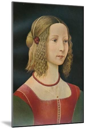 Portrait of a Girl, c1490, (1911)-Unknown-Mounted Giclee Print