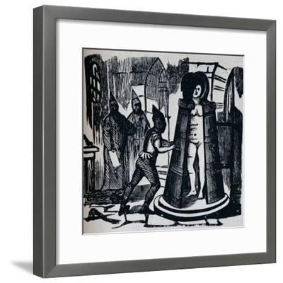 'Woodcut showing Geuder's 'Iron Maiden' in a torture chamber Setting', c1870-Unknown-Framed Giclee Print