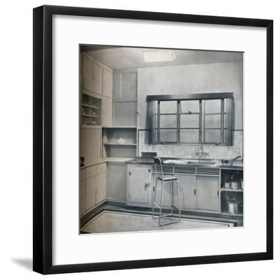 Section of a small kitchen, designed by Mrs Darcy Braddell, 1935-Unknown-Framed Photographic Print
