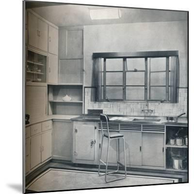 Section of a small kitchen, designed by Mrs Darcy Braddell, 1935-Unknown-Mounted Photographic Print