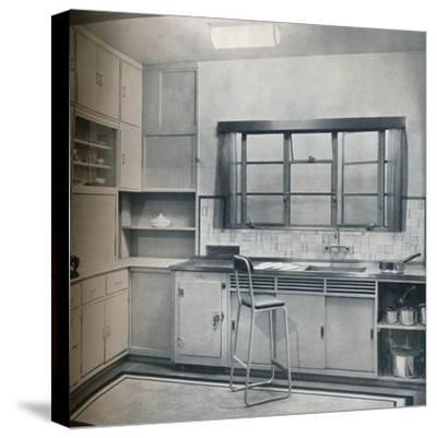 Section of a small kitchen, designed by Mrs Darcy Braddell, 1935-Unknown-Stretched Canvas Print