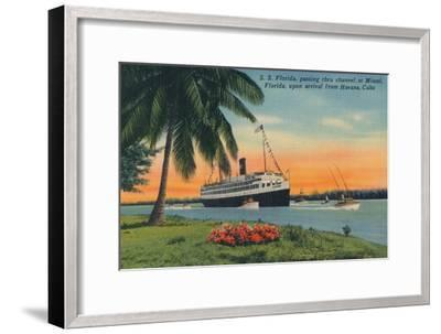 SS Florida, Miami, Florida, upon arrival from Havana, Cuba,  c1931-Unknown-Framed Giclee Print