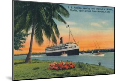 SS Florida, Miami, Florida, upon arrival from Havana, Cuba,  c1931-Unknown-Mounted Giclee Print