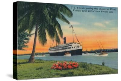 SS Florida, Miami, Florida, upon arrival from Havana, Cuba,  c1931-Unknown-Stretched Canvas Print