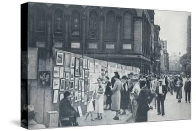 Washington Square, Greenwich Village, New York, USA, 1935-Unknown-Stretched Canvas Print