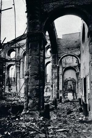 'Interior of the Church of St. Mary Le Bow, Cheapside burnt out in an air raid', 1941-Unknown-Framed Photographic Print