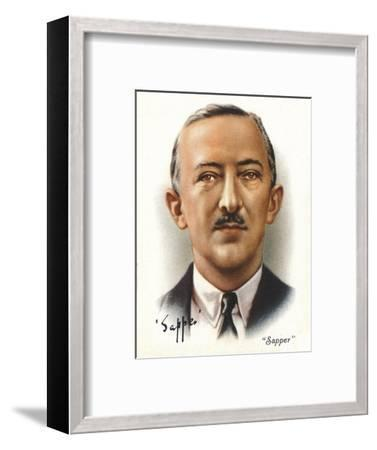 'Sapper' (Lt-Col Cyril McNeile), 1937. Artists: Unknown, WD & HO Wills-Unknown-Framed Giclee Print