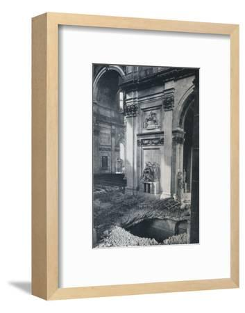 'North Transept of St. Paul's Cathedral after bombing, 1941'-Unknown-Framed Photographic Print