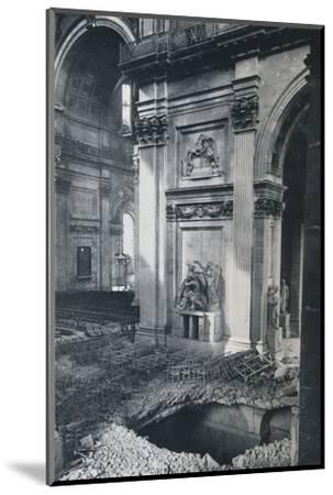 'North Transept of St. Paul's Cathedral after bombing, 1941'-Unknown-Mounted Photographic Print