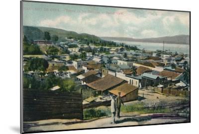 Santiago De Cuba. - Barrio de los Gailegos. - Partial View, c1910-Unknown-Mounted Giclee Print