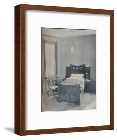 A child's bed designed by Peter Behrens, executed by TD Heymann, 1901-Unknown-Framed Photographic Print