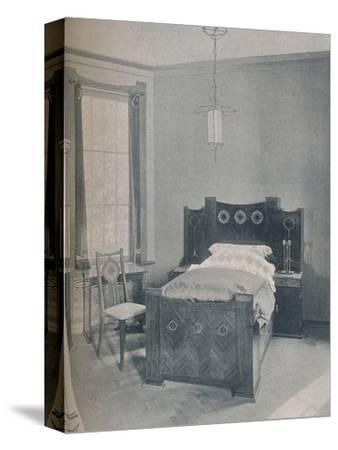 A child's bed designed by Peter Behrens, executed by TD Heymann, 1901-Unknown-Stretched Canvas Print