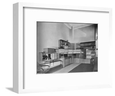 'The apartment of Ben Herzberg, New York. Designed by Howe and Lescaze', 1933-Unknown-Framed Photographic Print