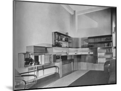 'The apartment of Ben Herzberg, New York. Designed by Howe and Lescaze', 1933-Unknown-Mounted Photographic Print