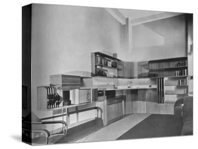 'The apartment of Ben Herzberg, New York. Designed by Howe and Lescaze', 1933-Unknown-Stretched Canvas Print