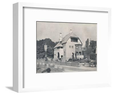 A house designed by Hans Christiansen, c1901 (1901-1902)-Unknown-Framed Photographic Print