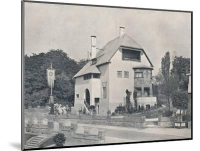 A house designed by Hans Christiansen, c1901 (1901-1902)-Unknown-Mounted Photographic Print