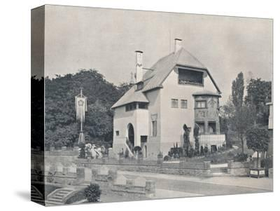 A house designed by Hans Christiansen, c1901 (1901-1902)-Unknown-Stretched Canvas Print