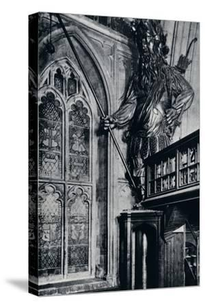 'Gog (Gogmagog), One of the two City giants burnt in the London Guildhall fire, 1940'-Unknown-Stretched Canvas Print