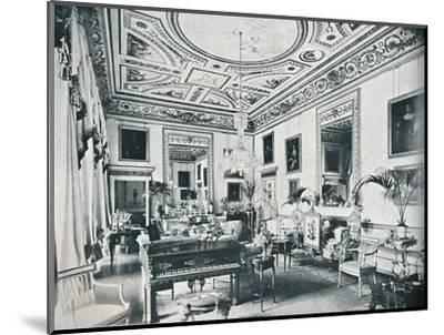'The Salon, Avington', c1908-Unknown-Mounted Photographic Print