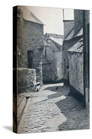 An old portion of St Ives, Cornwall, scheduled as a slum clearance area, 1935-Unknown-Stretched Canvas Print