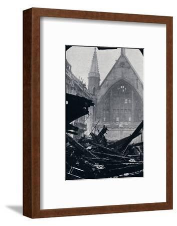 'London's Guildhall after the fire of December 29th December 1940'-Unknown-Framed Photographic Print