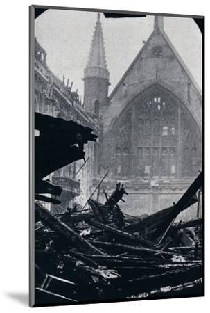 'London's Guildhall after the fire of December 29th December 1940'-Unknown-Mounted Photographic Print