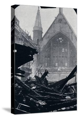 'London's Guildhall after the fire of December 29th December 1940'-Unknown-Stretched Canvas Print