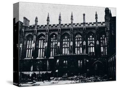 'The Historic Hall in the Inner Temple completely gutted by fire', 1941-Unknown-Stretched Canvas Print