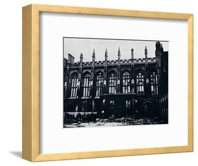 'The Historic Hall in the Inner Temple completely gutted by fire', 1941-Unknown-Framed Photographic Print