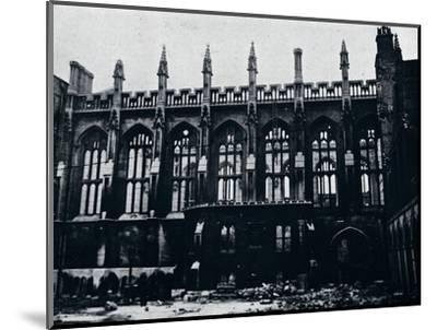 'The Historic Hall in the Inner Temple completely gutted by fire', 1941-Unknown-Mounted Photographic Print