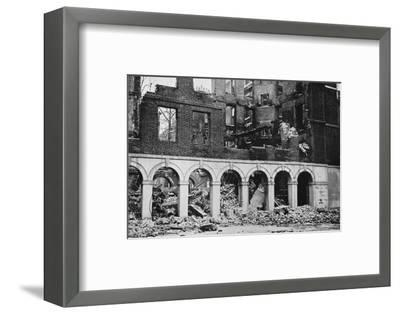 'The Cloisters in the Temple after having been wrecked by fire', 1941-Unknown-Framed Photographic Print