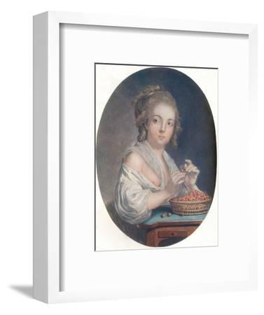 'Les Cerises', c18th century-Unknown-Framed Giclee Print
