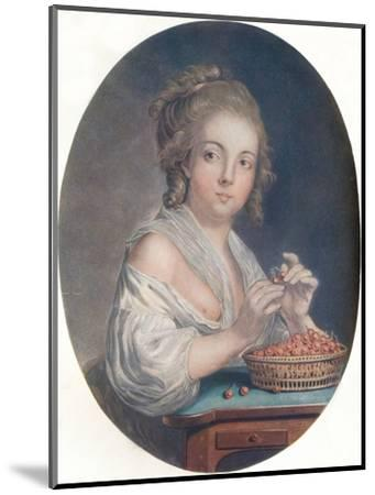 'Les Cerises', c18th century-Unknown-Mounted Giclee Print