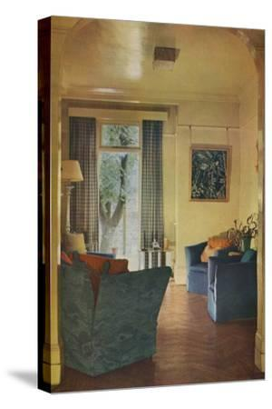 Interior of Mrs Ewart Sofio's house, 25 Bark Place, Bayswater, London, 1932-Unknown-Stretched Canvas Print