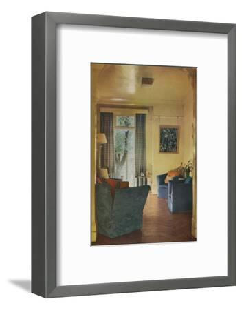 Interior of Mrs Ewart Sofio's house, 25 Bark Place, Bayswater, London, 1932-Unknown-Framed Photographic Print